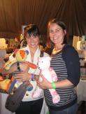 Constance Zimmer & her sister with Keepsake Patchwork Bears