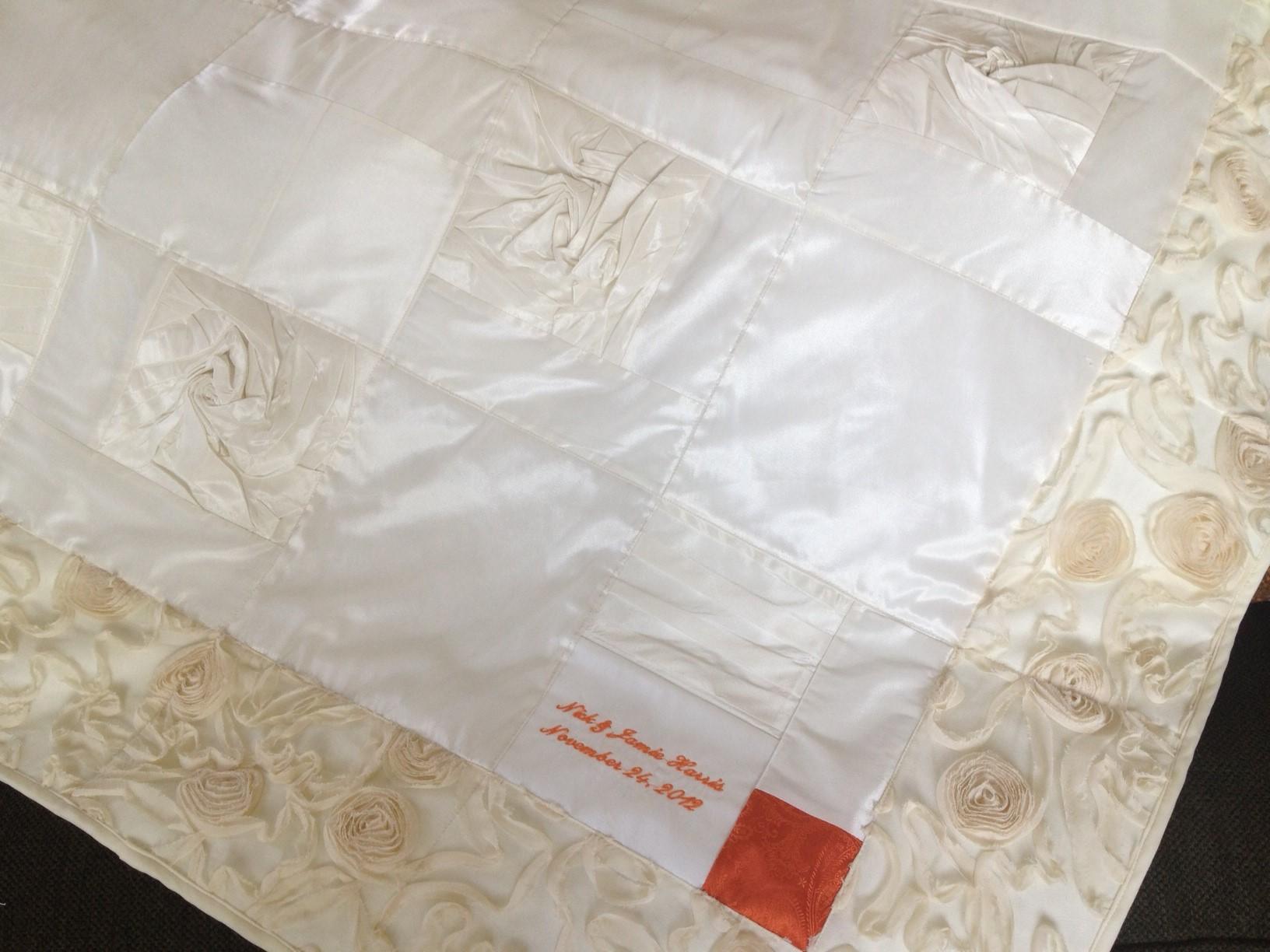 wedding dress quilt | The Patchwork Bear : wedding dress quilts - Adamdwight.com
